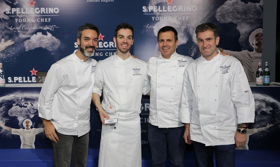 David Andrés, segundo chef de ABaC, gana la final ibérica del concurso S.Pellegrino Young Chef 2017
