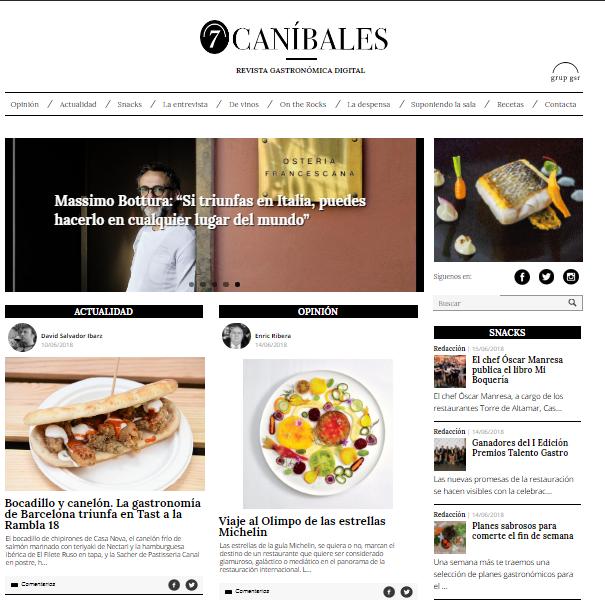 La revista gastronómica 7Caníbales Premio Nacional de Gastronomía
