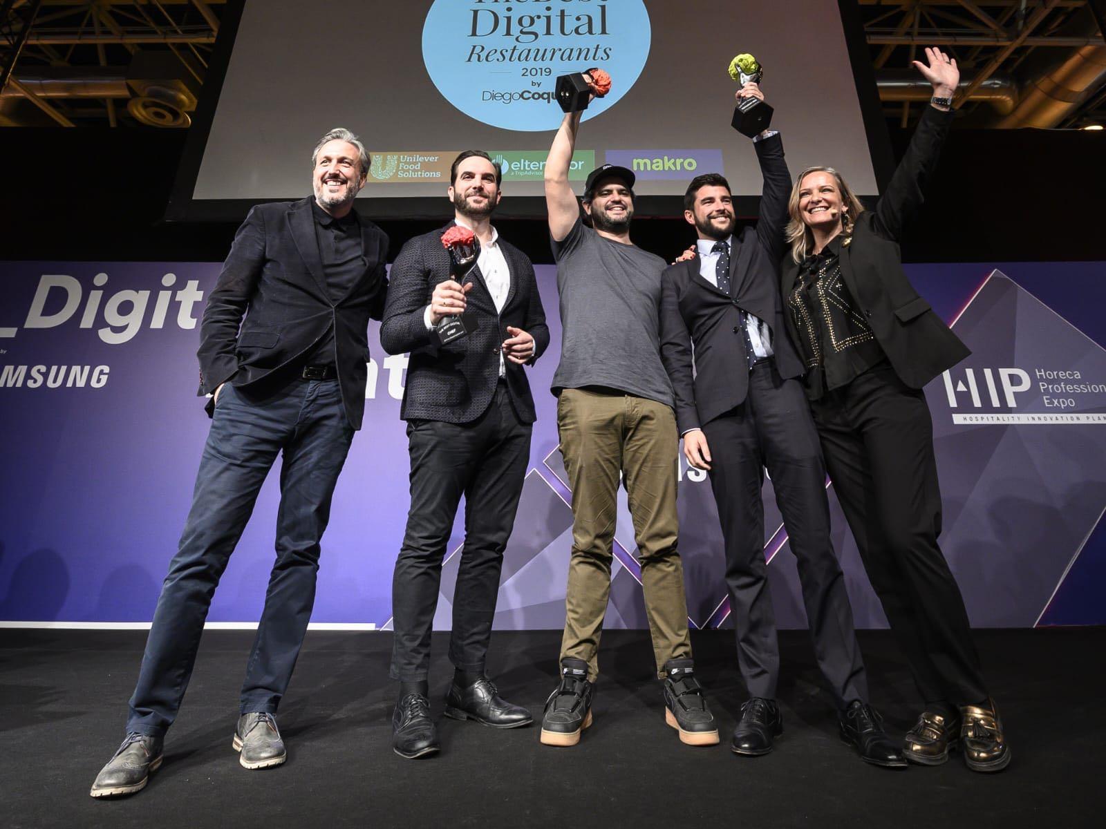 Mario Sandoval, premiado en The Best Digital Restaurants 2019